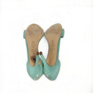 SJP by Sarah Jessica Parker Shoes - SJP Bobbie Sandal Mint Green Scalloped Heels 36